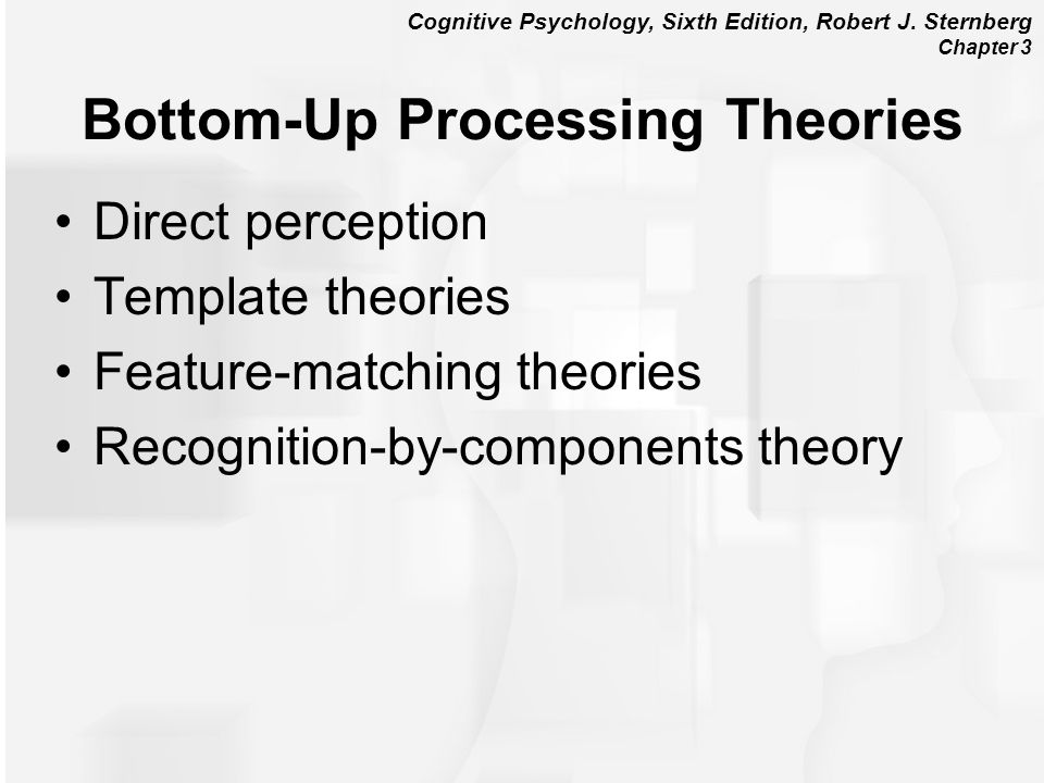 Bottom-Up Processing Theories