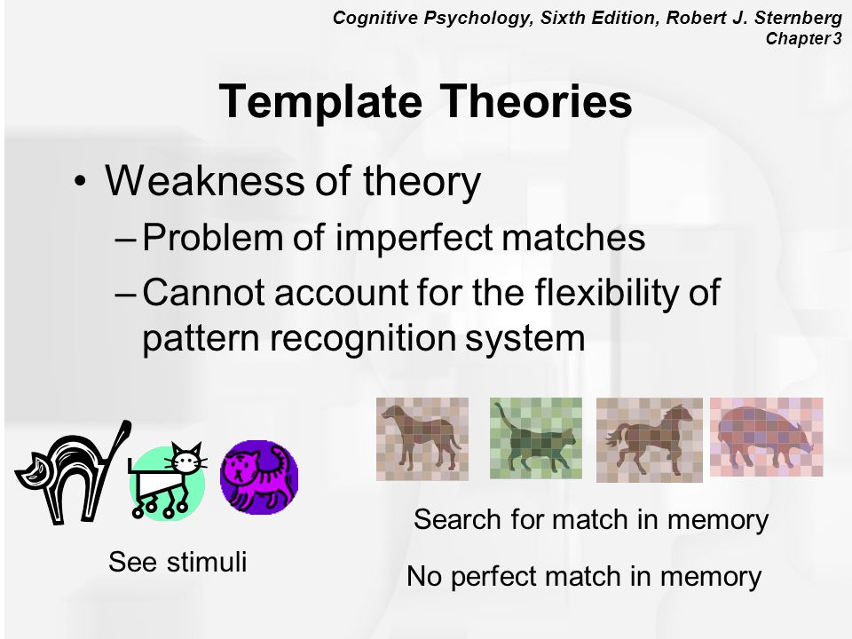 Template Theories Weakness of theory Problem of imperfect matches