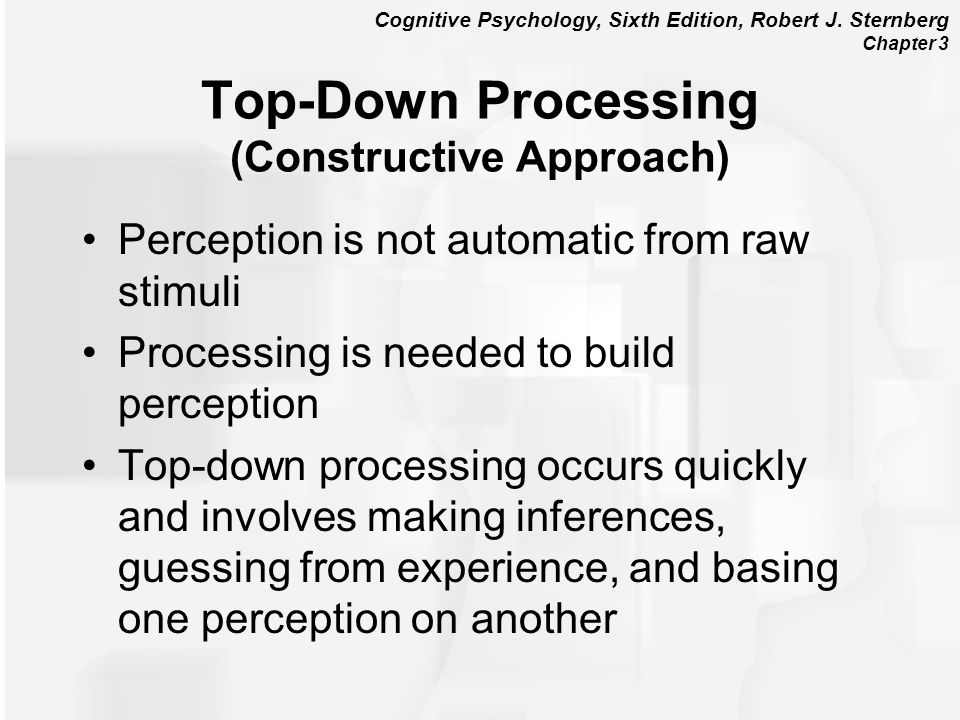 Top-Down Processing (Constructive Approach)