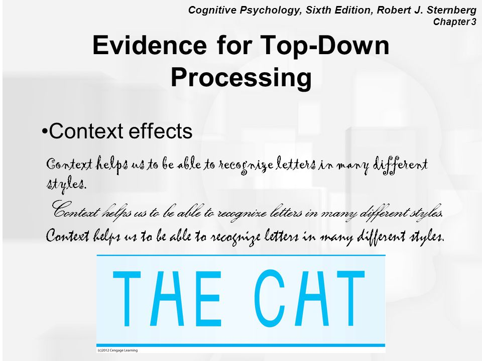 Evidence for Top-Down Processing