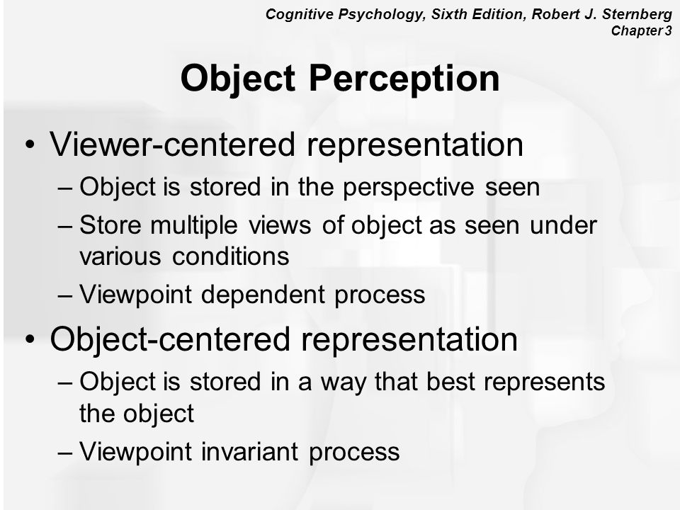 Object Perception Viewer-centered representation