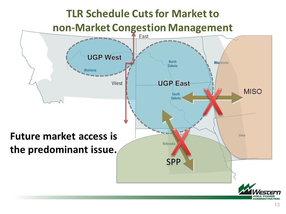 TLR Schedule Cuts for Market to non-Market Congestion Management