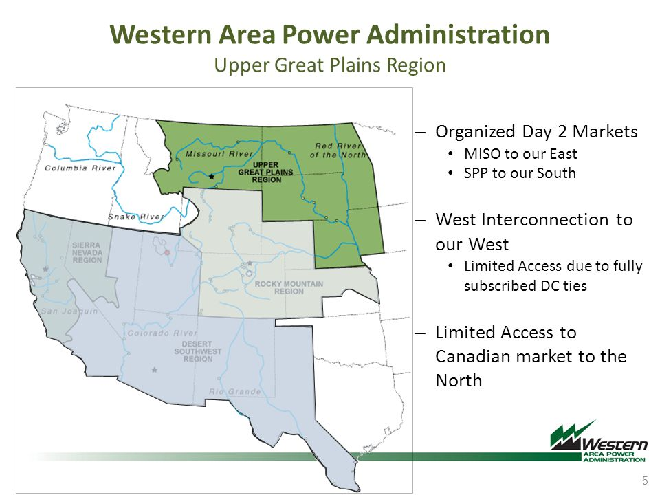 Western Area Power Administration Upper Great Plains Region