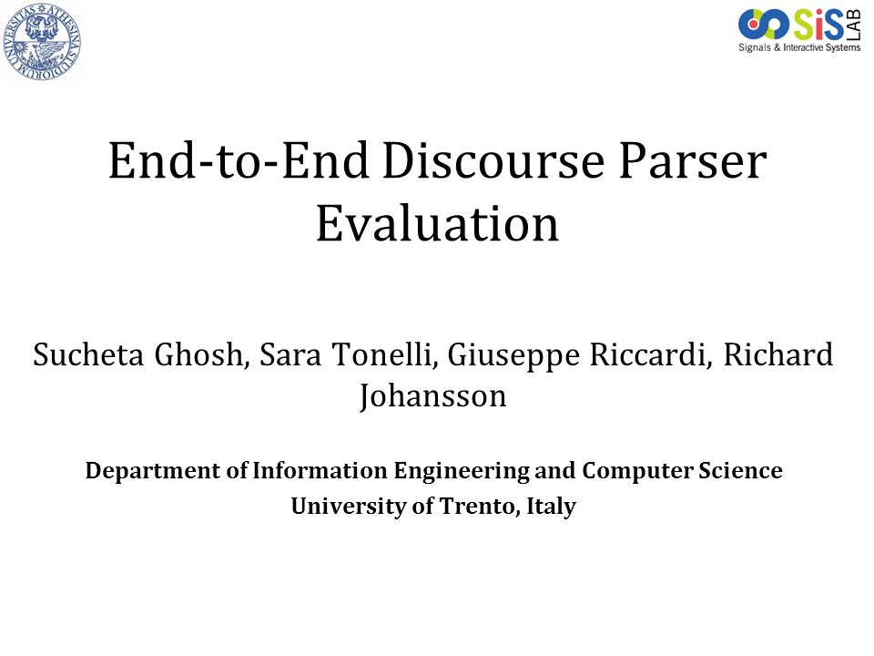 End-to-End Discourse Parser Evaluation