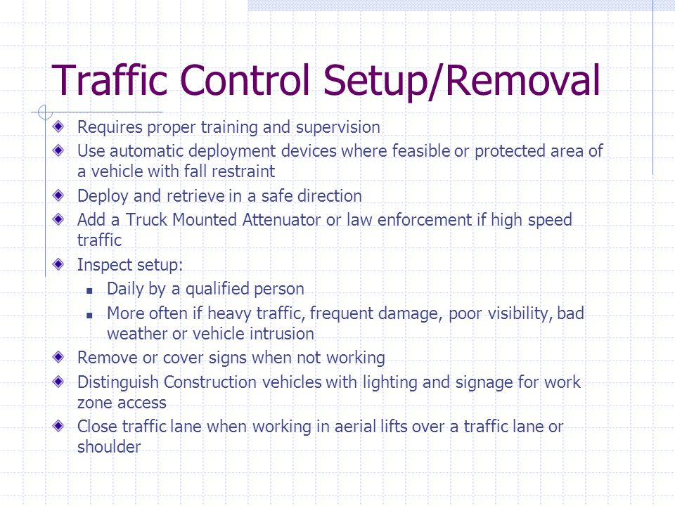 Traffic Control Setup/Removal