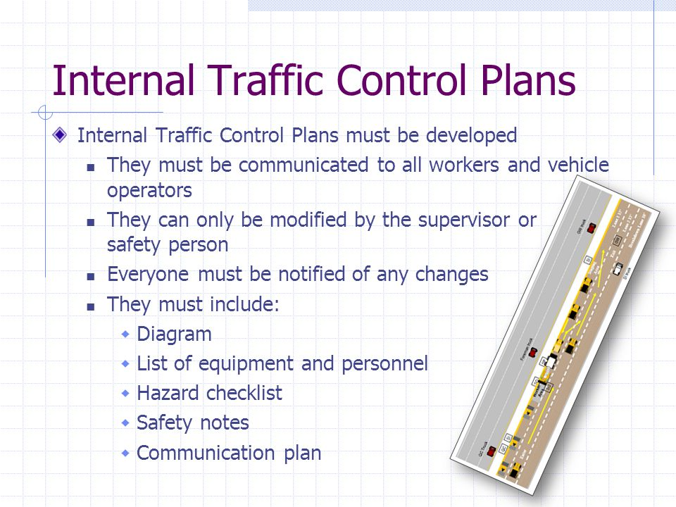 Internal Traffic Control Plans