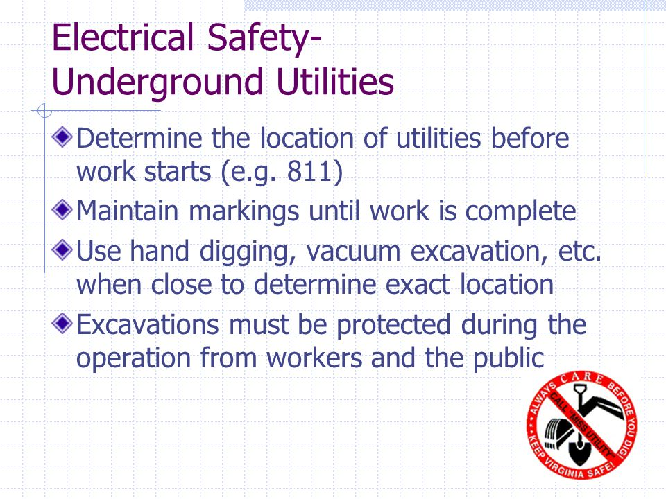 Electrical Safety- Underground Utilities