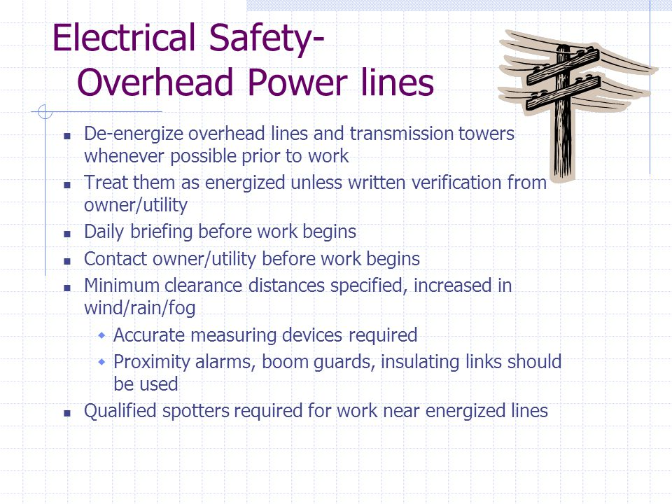 Electrical Safety- Overhead Power lines