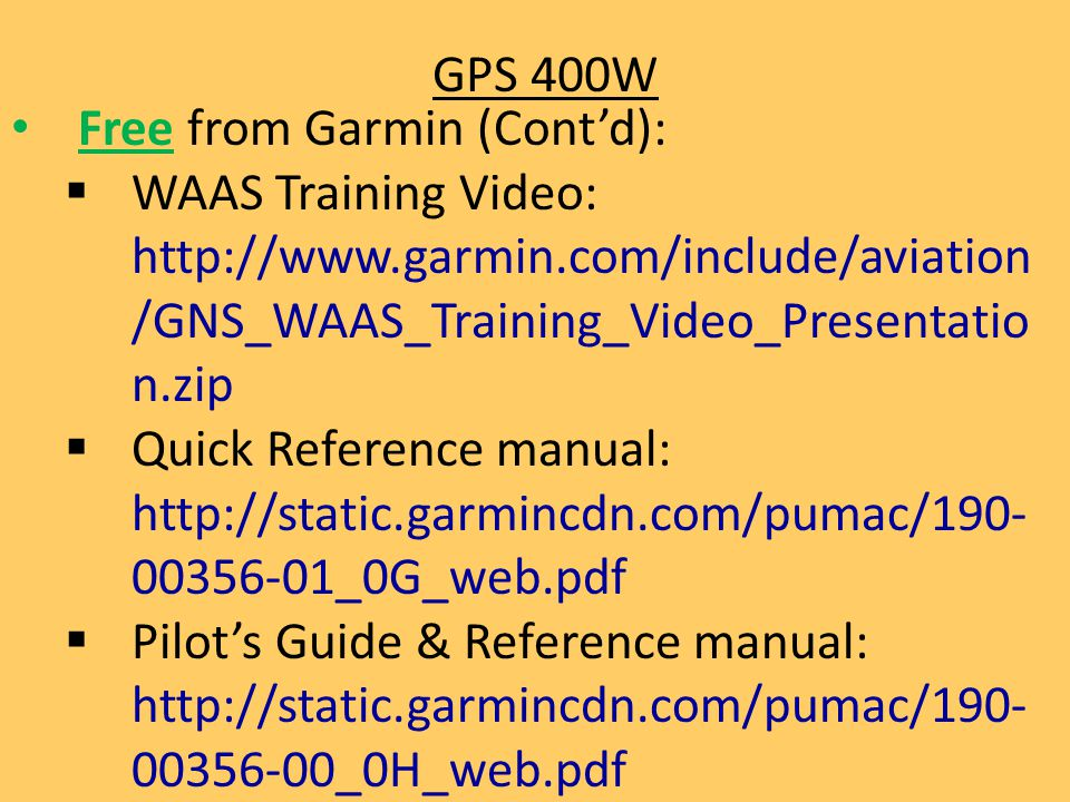 garmin gps manual