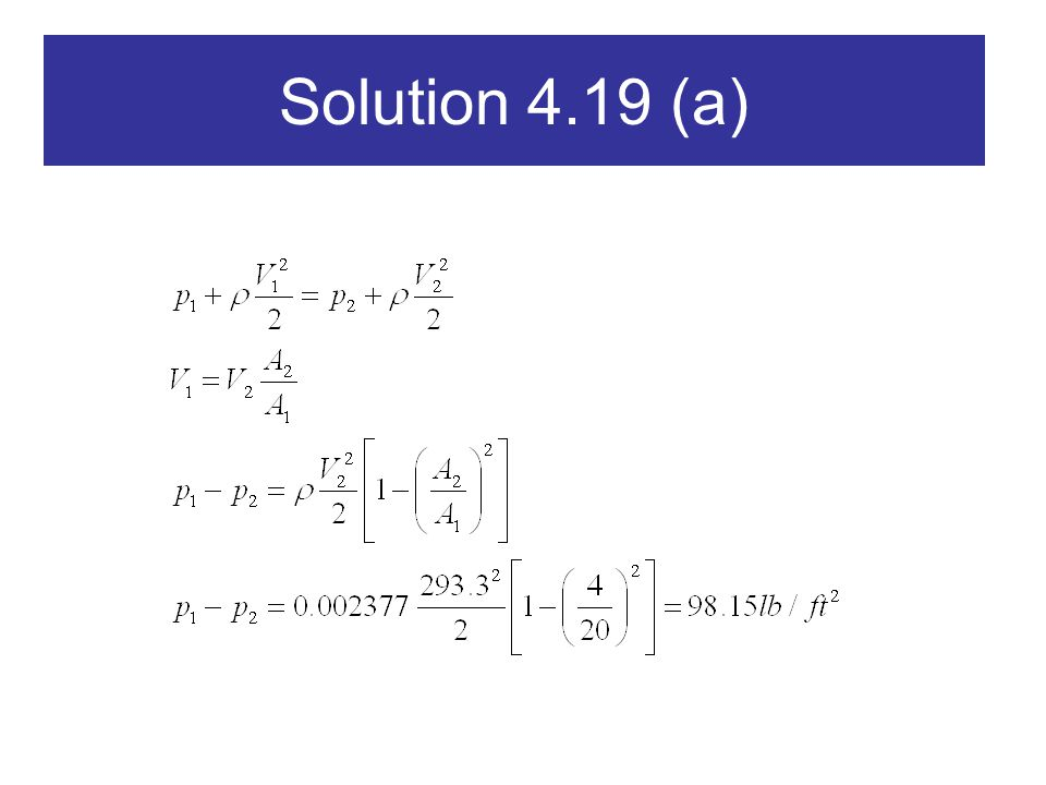 Solution 4.19 (a)