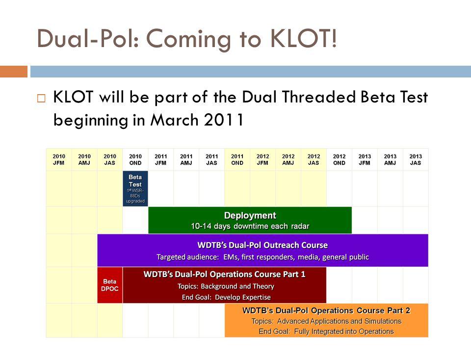 Dual-Pol: Coming to KLOT!