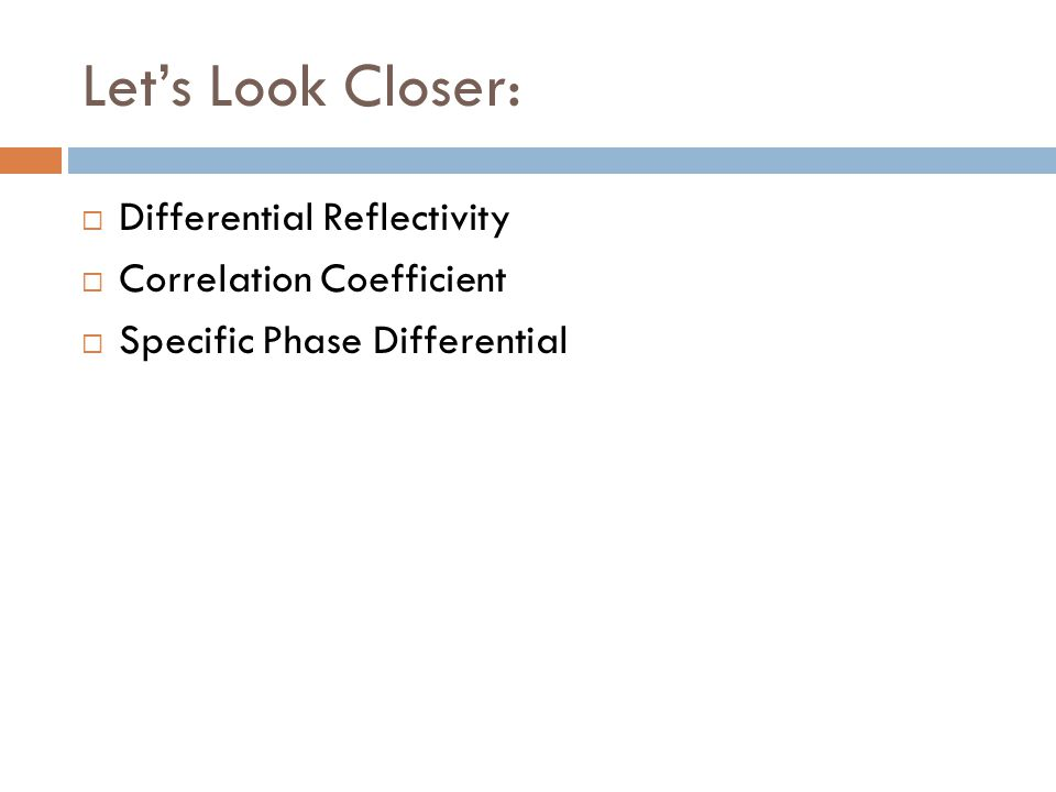 Let's Look Closer: Differential Reflectivity Correlation Coefficient