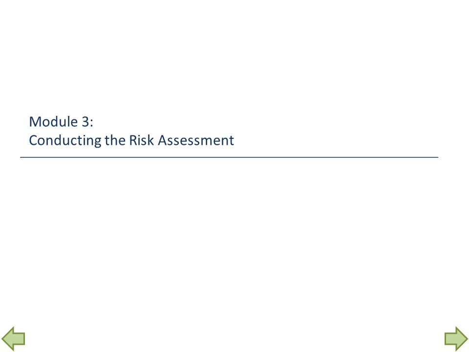 Module 3: Conducting the Risk Assessment