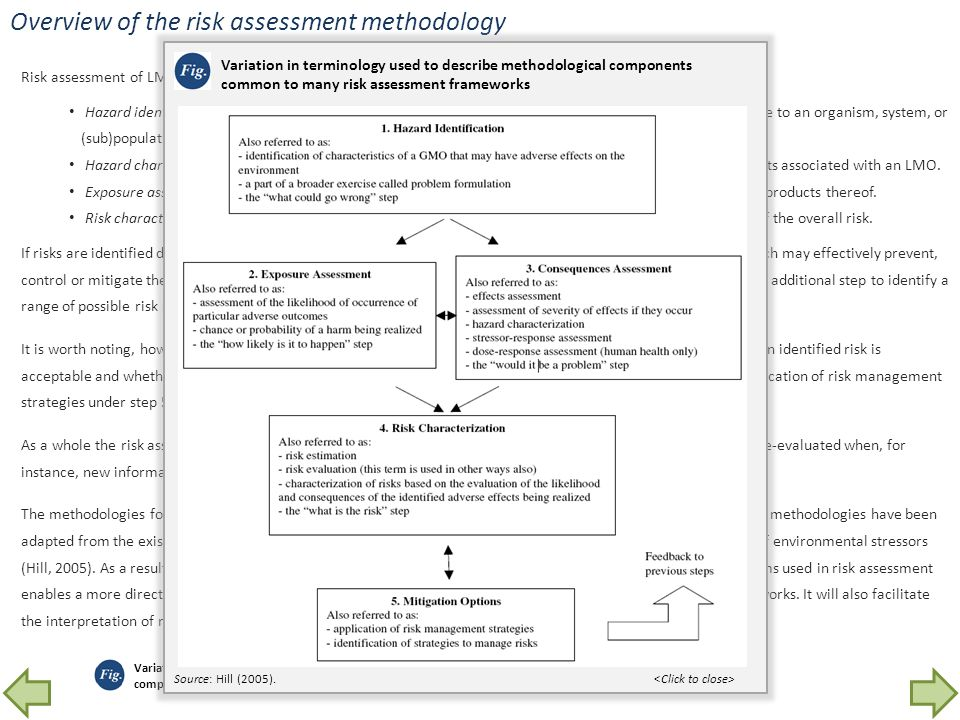 Overview of the risk assessment methodology