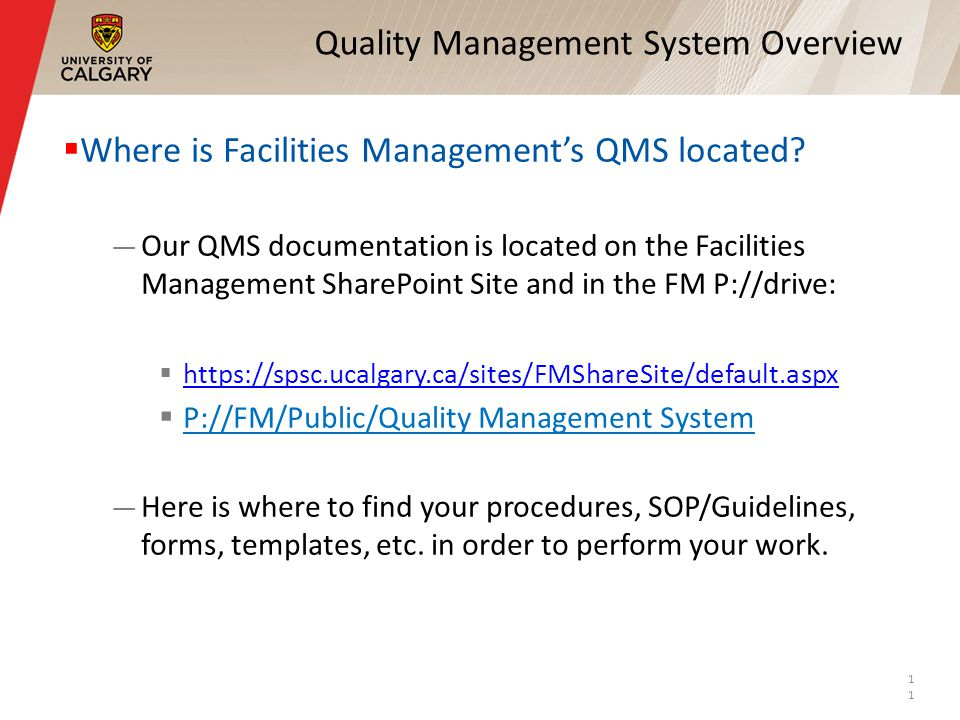 Quality Management System Overview