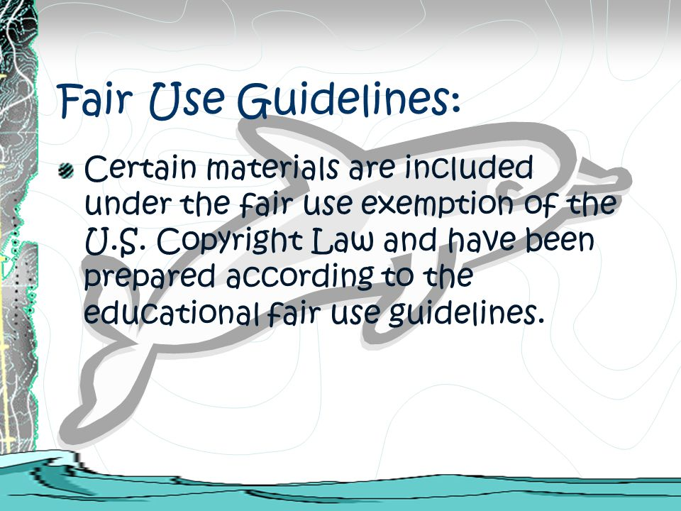 Fair Use Guidelines: