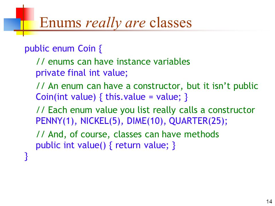Enums really are classes