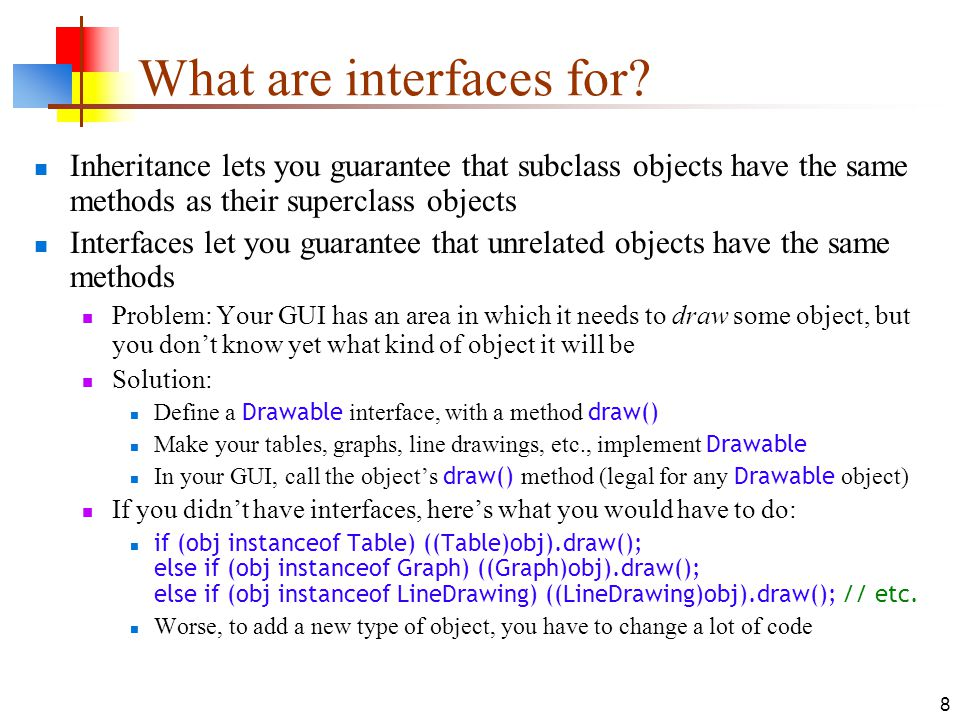 What are interfaces for