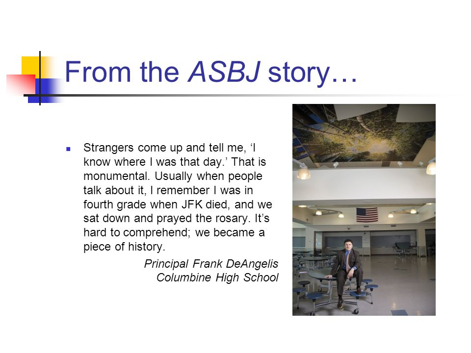 From the ASBJ story…