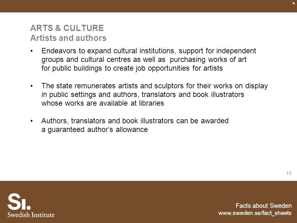 ARTS & CULTURE Artists and authors