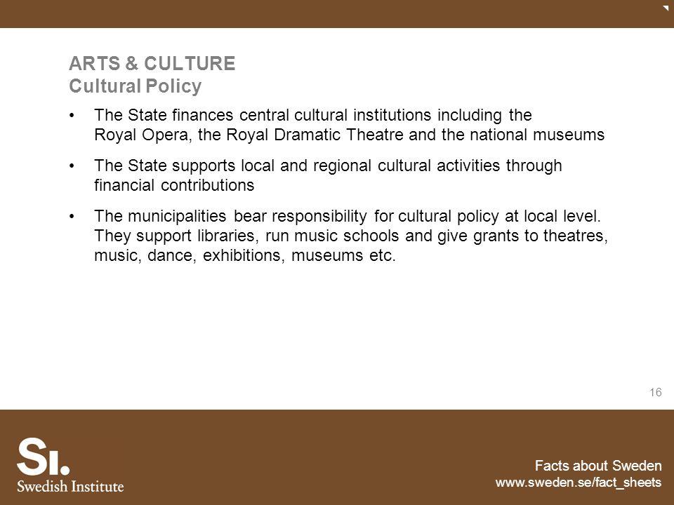 ARTS & CULTURE Cultural Policy