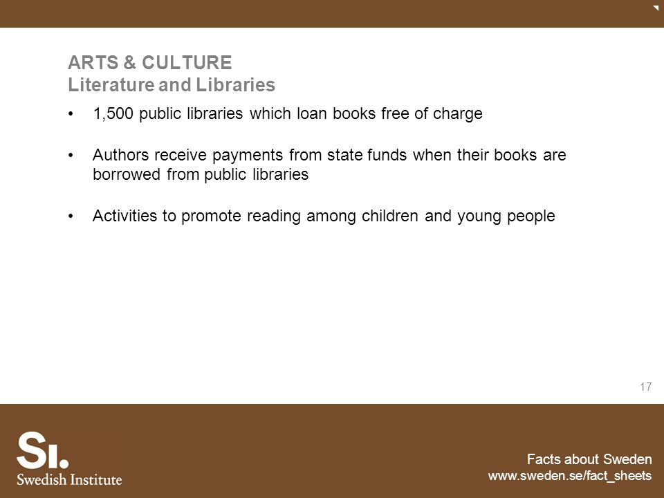 ARTS & CULTURE Literature and Libraries