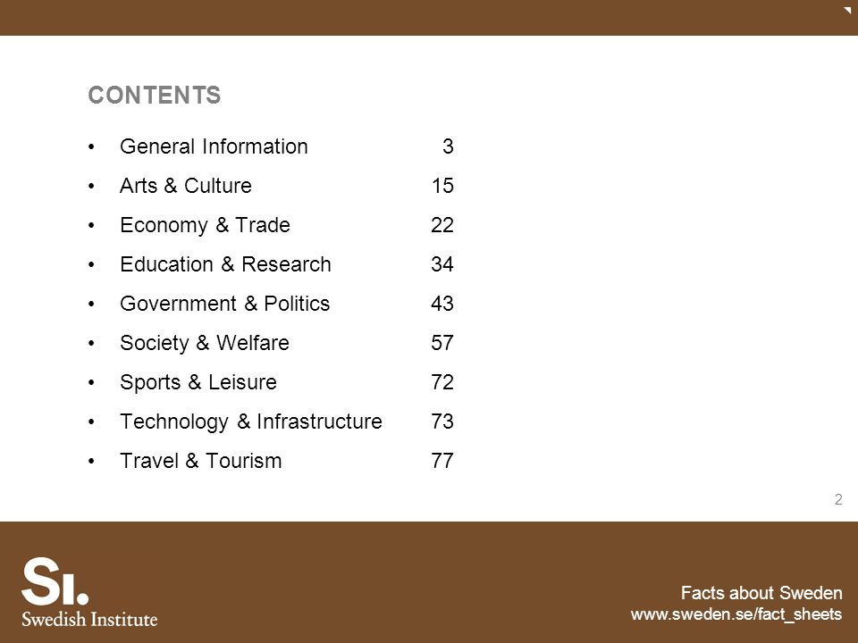 CONTENTS General Information 3 Arts & Culture 15 Economy & Trade 22