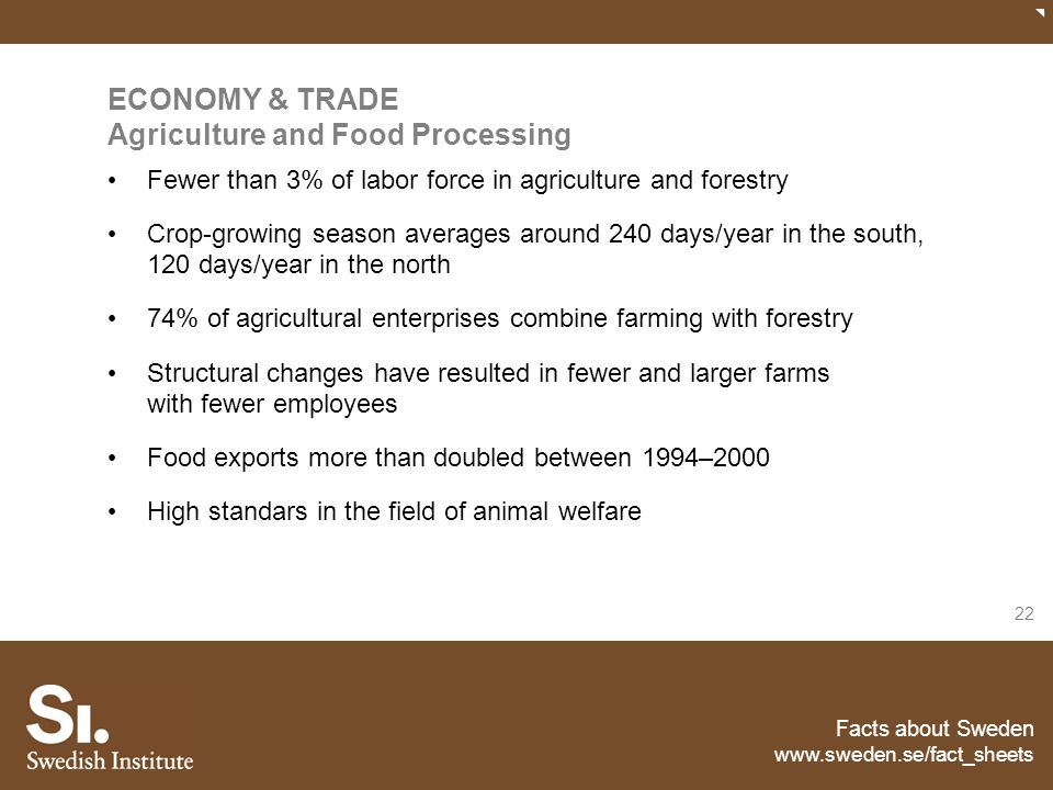 ECONOMY & TRADE Agriculture and Food Processing