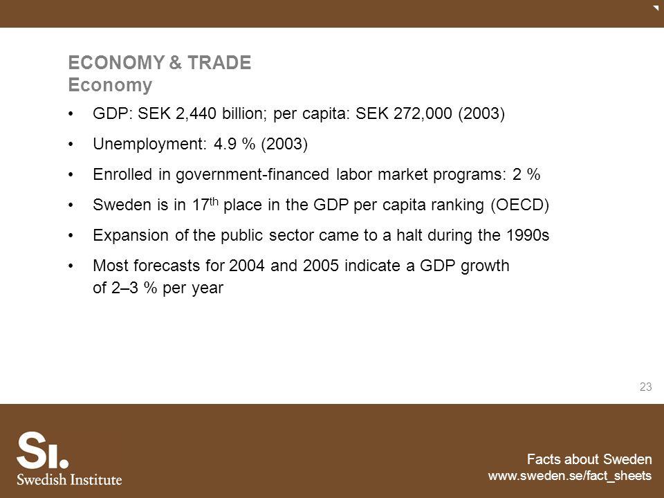ECONOMY & TRADE Economy