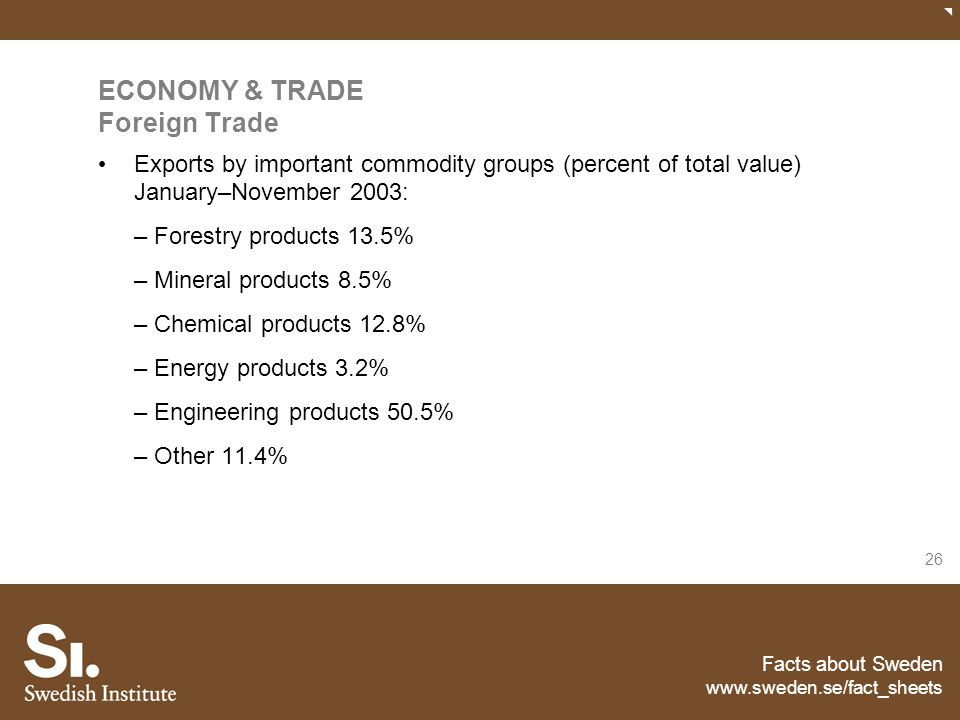 ECONOMY & TRADE Foreign Trade