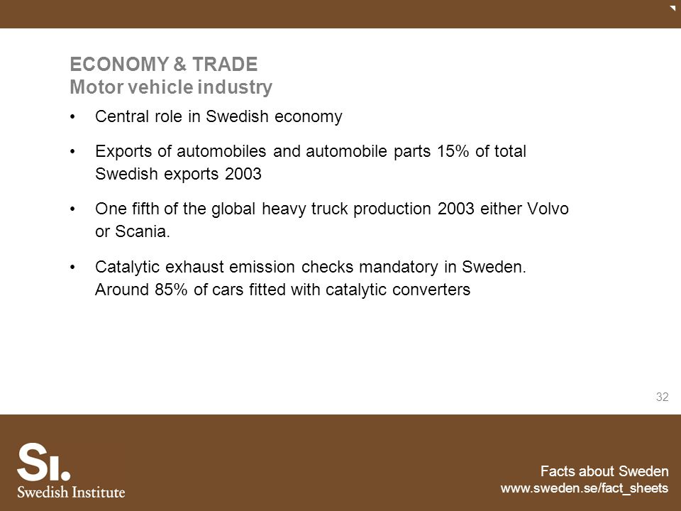 ECONOMY & TRADE Motor vehicle industry