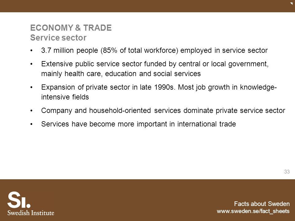 ECONOMY & TRADE Service sector
