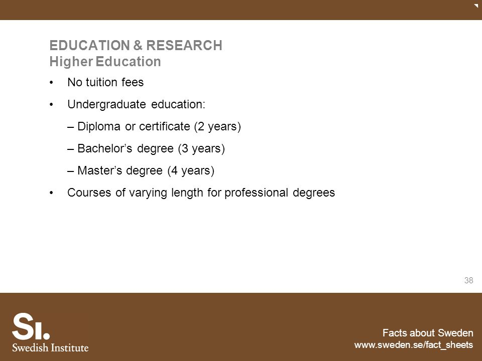 EDUCATION & RESEARCH Higher Education