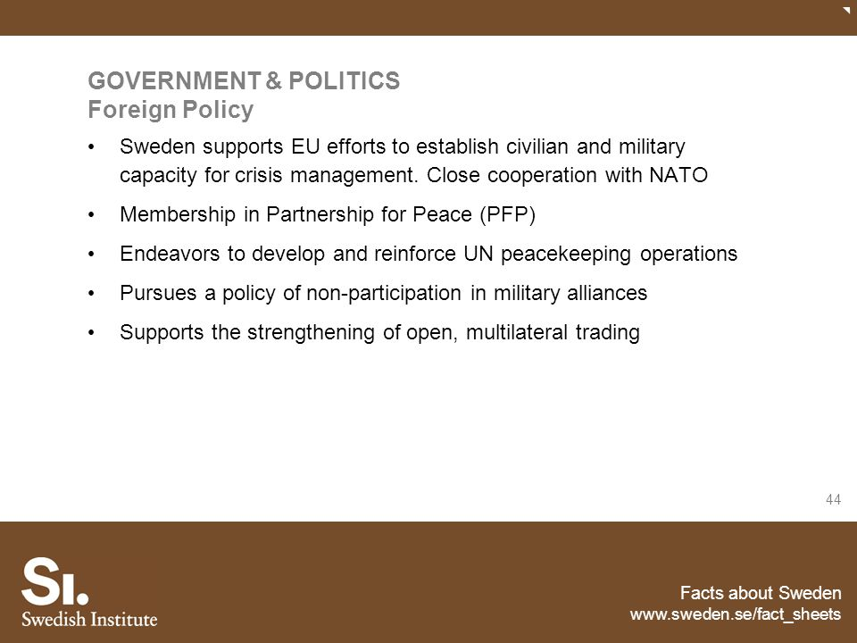GOVERNMENT & POLITICS Foreign Policy