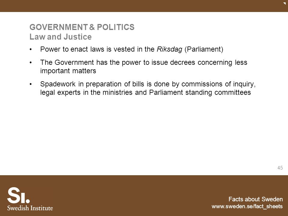GOVERNMENT & POLITICS Law and Justice