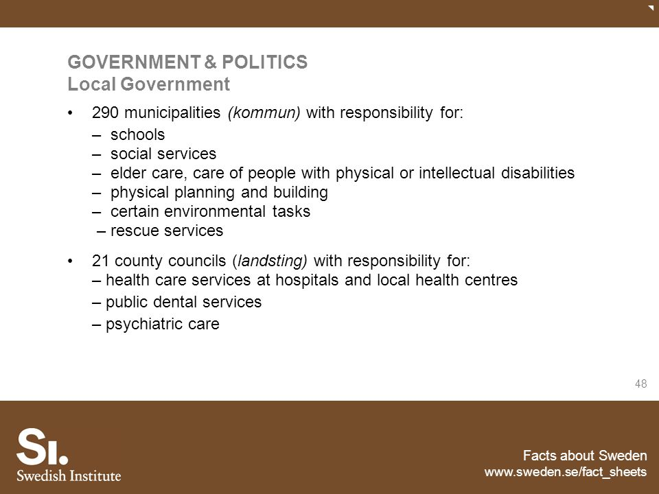 GOVERNMENT & POLITICS Local Government