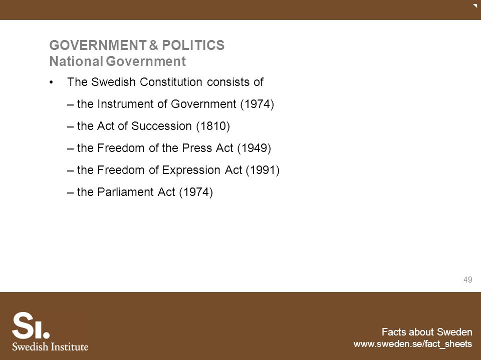GOVERNMENT & POLITICS National Government