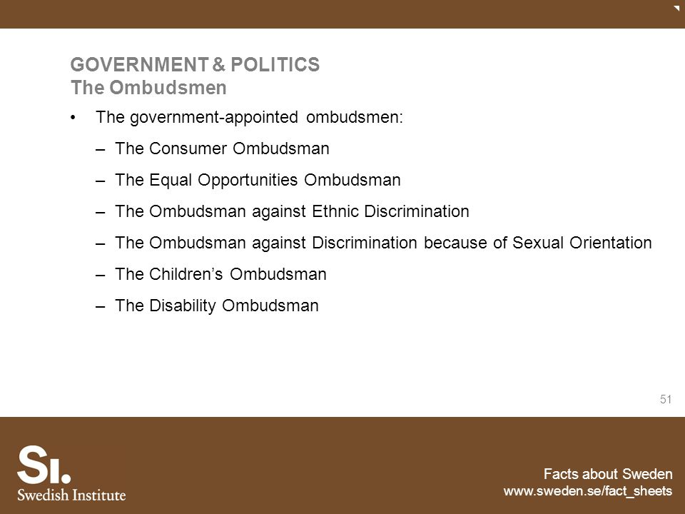 GOVERNMENT & POLITICS The Ombudsmen