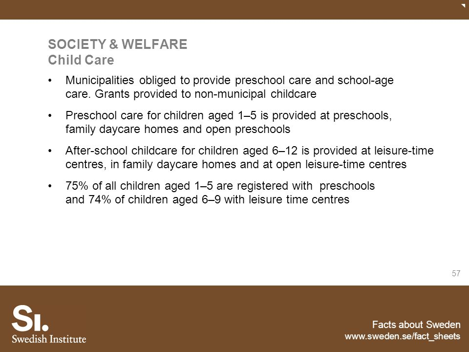 SOCIETY & WELFARE Child Care