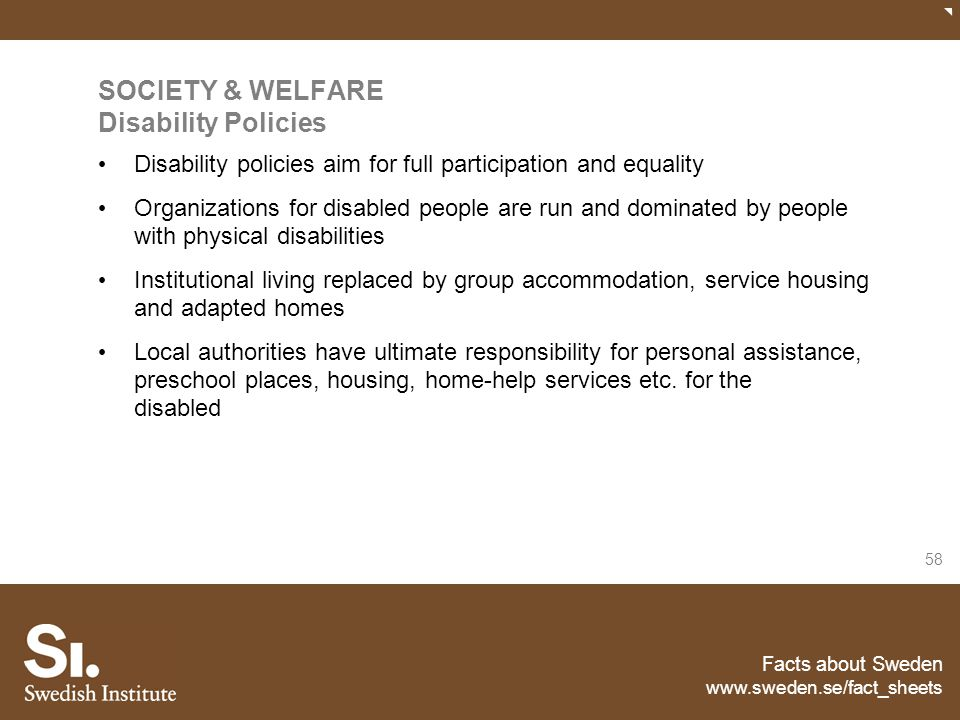 SOCIETY & WELFARE Disability Policies