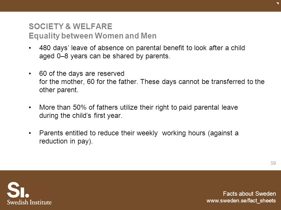 SOCIETY & WELFARE Equality between Women and Men
