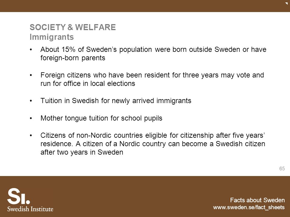 SOCIETY & WELFARE Immigrants