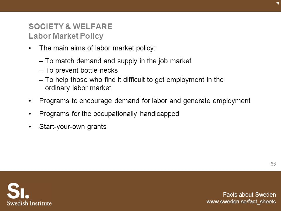SOCIETY & WELFARE Labor Market Policy