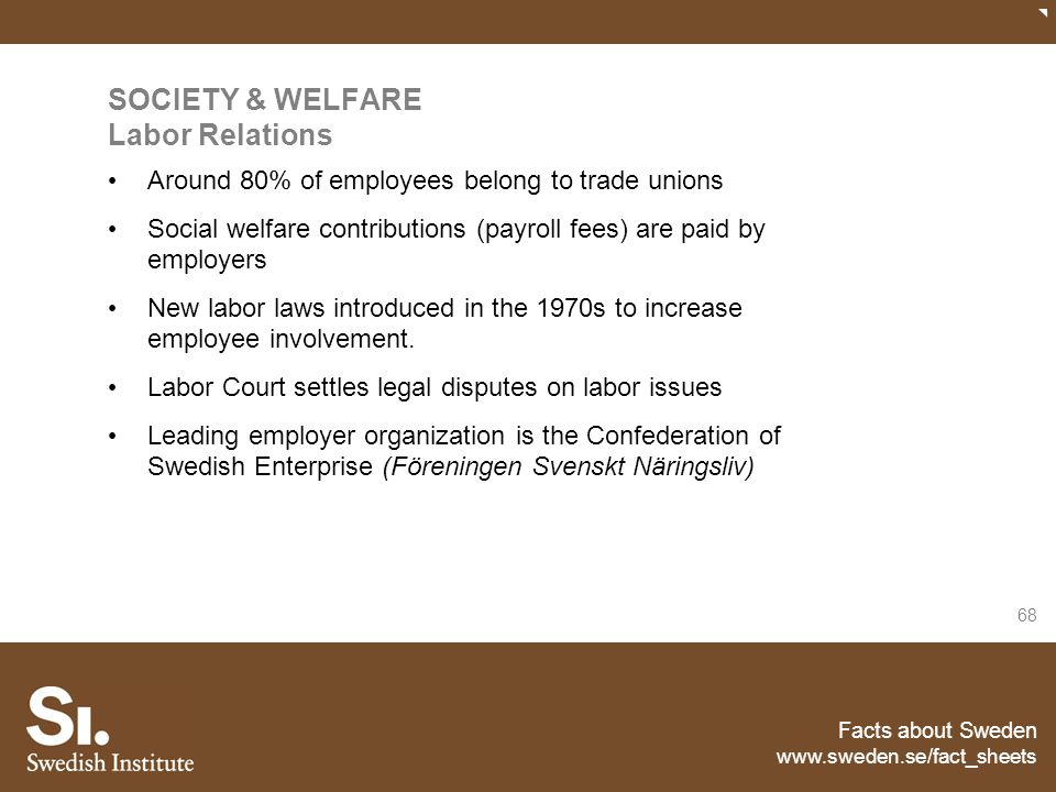 SOCIETY & WELFARE Labor Relations