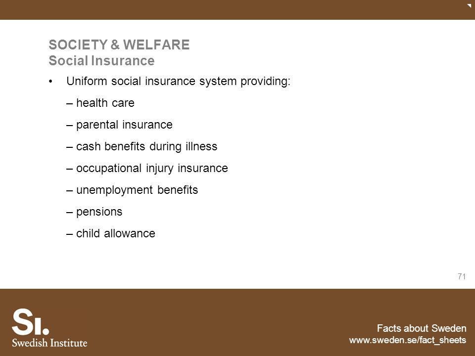 SOCIETY & WELFARE Social Insurance