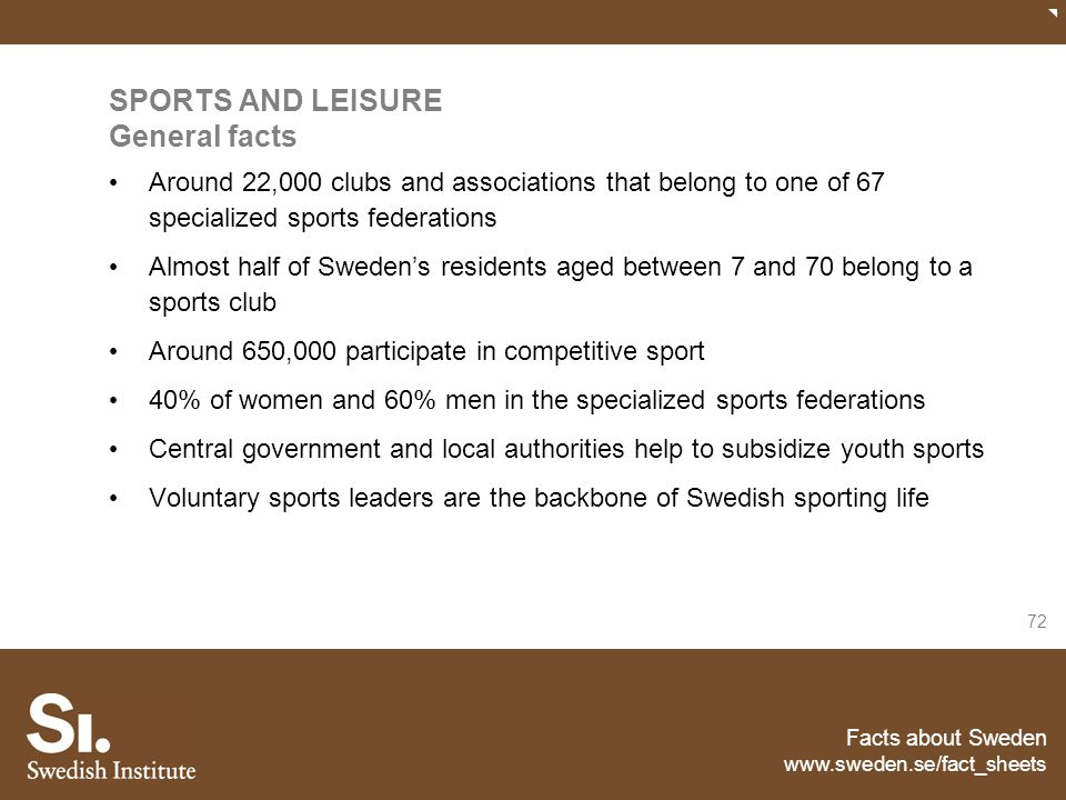 SPORTS AND LEISURE General facts