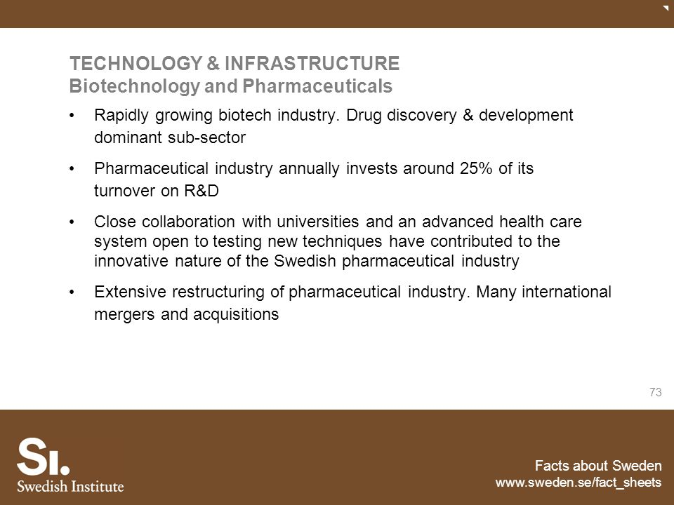 TECHNOLOGY & INFRASTRUCTURE Biotechnology and Pharmaceuticals