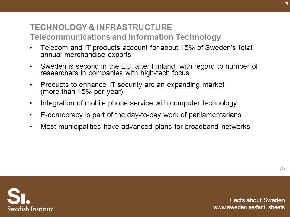 TECHNOLOGY & INFRASTRUCTURE Telecommunications and Information Technology