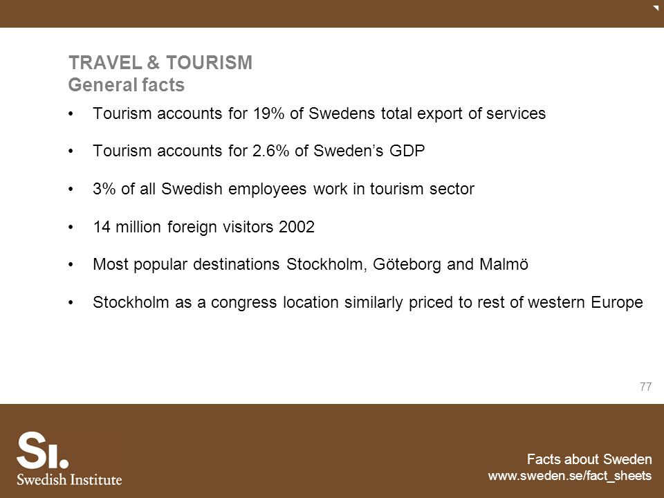 TRAVEL & TOURISM General facts