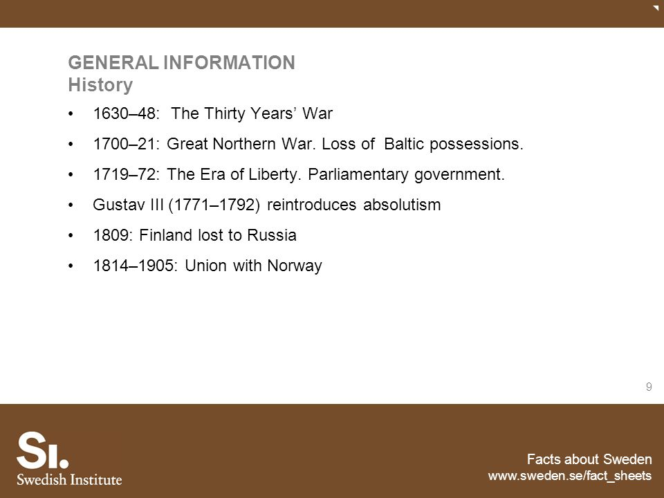 GENERAL INFORMATION History